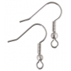 Fish Hook With Ball And Coil Surgical Steel